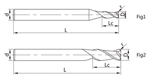 圆角头立铣刀细节矢量图