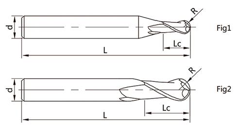 2刃球头立铣刀