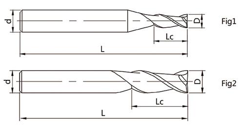 4刃平头立铣刀矢量图