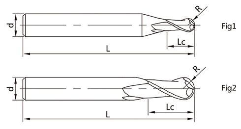 4刃球头立铣刀矢量图