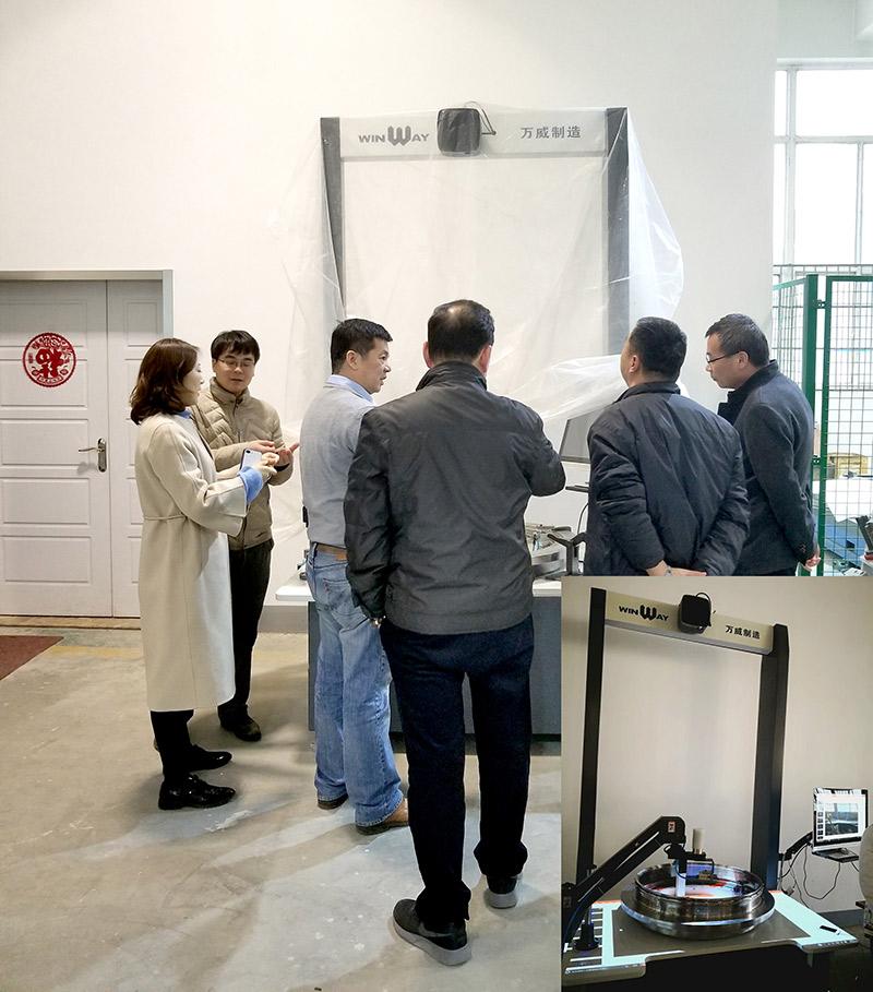 【开工大吉】中石油测井仪器制造中心一行考察万威机械数字化制造工厂